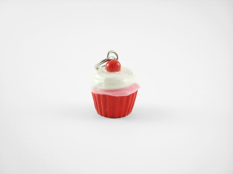 Miniature Charm Red Cherry Cupcake